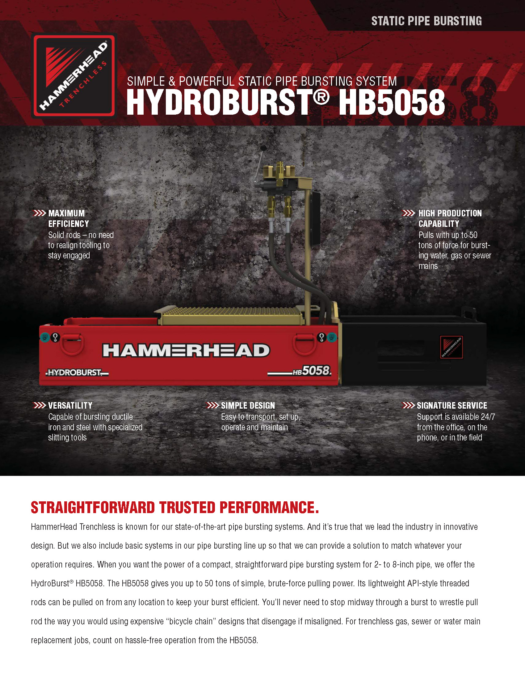 product literature hammerhead trenchless equipment